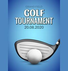 golf tournament poster template flyer ball vector image