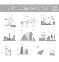 Great city map creator House constructor vector