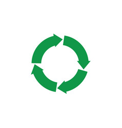 green arrows recycle icon zerowaste concept vector image