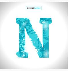 grunge symbol font blue sketch style vector image