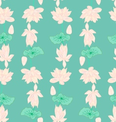 Hand drawn background of Beautiful lotus flowers vector image