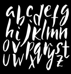 handwritten dry brush font modern brush lettering vector image