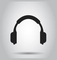 Headphone icon earphone headset sign business vector