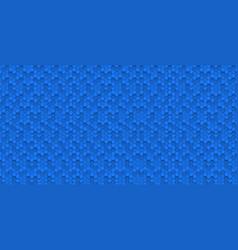 hexagonal blue abstract background 3d hexagons vector image