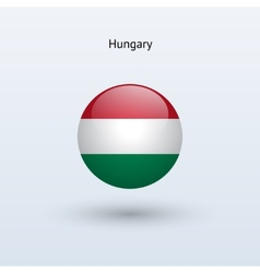 Hungary round flag vector image