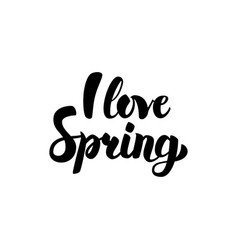I love spring calligraphy vector
