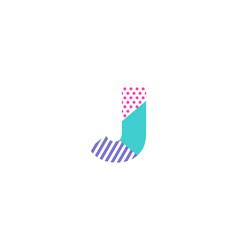 j geometric letter logo icon design vector image