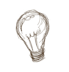 light bulb vintage engraved hand drawn vector image