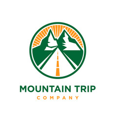 Logo mountain trip vector