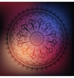 Mandala Sea background vector