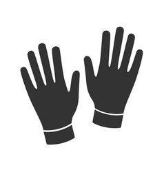 Medical or household gloves glyph icon vector