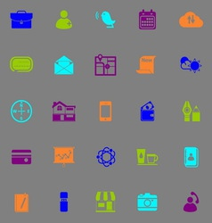 Mobile fluorescent color icons vector image