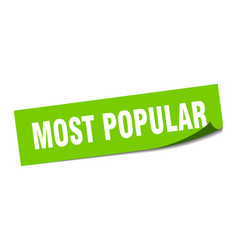 Most popular sticker most popular square isolated vector