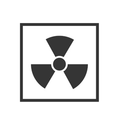 nuclear radiation sign vector image