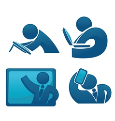 office life and modern technology vector image