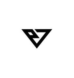 P and 7 logo vector