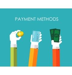 Payment Methods Flat Concept vector