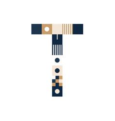 pixel art letter t colorful letter consist of vector image