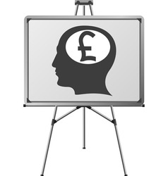 pound brain of a man vector image