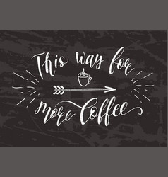 quote for coffee on the chalk board vector image