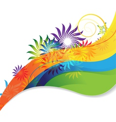 Rainbow flower background vector image