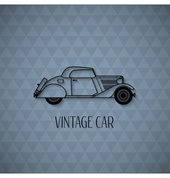 Retro cabriolet car vintage outline style vector