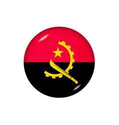 Round flag angola button icon vector