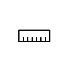 Ruler dimension line black icon vector