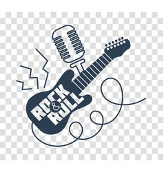 silhouette icon rock-n-roll day vector image