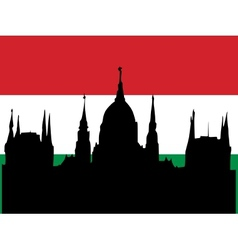 silhouette of budapest vector image