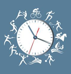 sport clock vector image