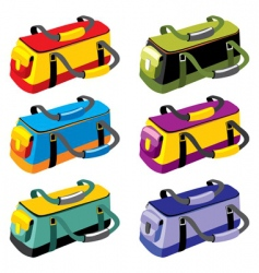 sports bags vector image vector image