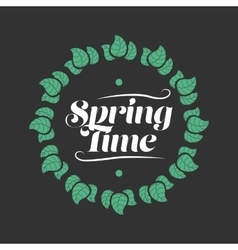 Spring time badge vector