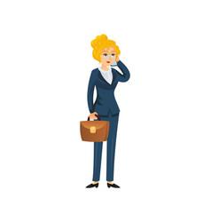 successful female entrepreneur character vector image