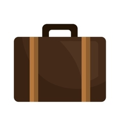 Suitcase bag travel isolated flat icon vector image