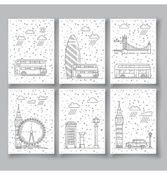 Symbols of London city vector