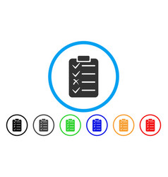 Task list rounded icon vector