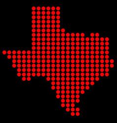Texas in dots vector
