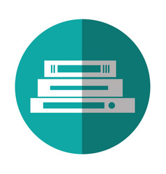 Text books library icon vector