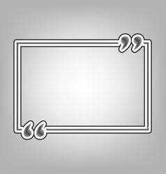 Text quote sign pencil sketch imitation vector
