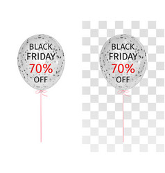 translucent balloon black friday 70 percent off vector image