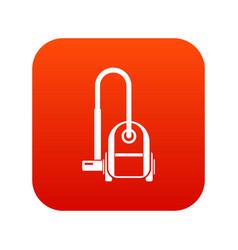 Vacuum cleaner icon digital red vector