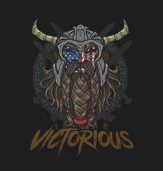 warrior america brave vector image