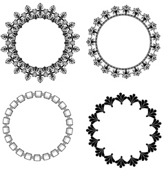 A set of round frames with ornament vector image vector image