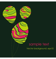 abstract stylized flowers vector image vector image