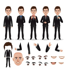business man with parts of the body vector image