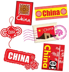 China country label vector image