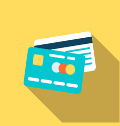credit cards icon in flat style vector image