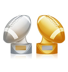 football trophies vector image vector image
