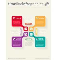 infographic with icons Web Template for diagram vector image vector image